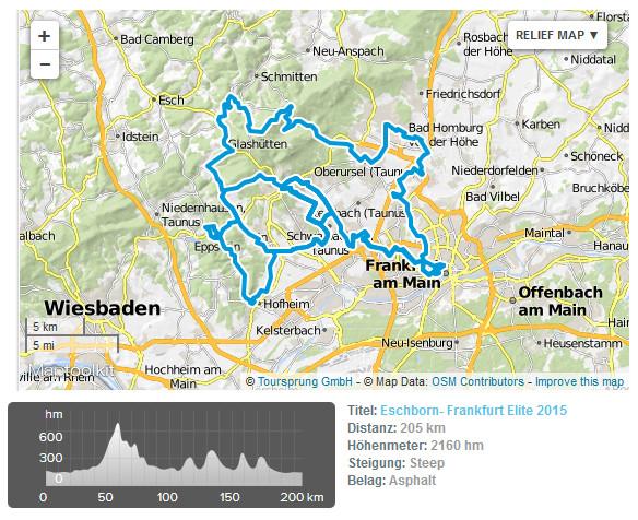 GP Francoforte 2017 - planimetria e altimetria (http://www.ilnuovociclismo.com)